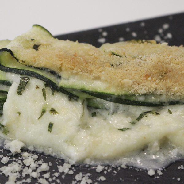 Calabacines a la parmesana blanca